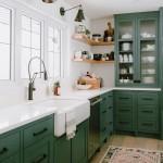 какой цвет подойдет к зеленой кухне