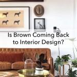 коричневаЯ мебель в интерьере