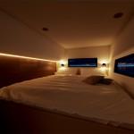 коричнево бирюзовый интерьер гостиной
