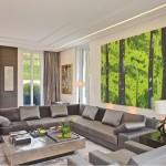 коричневые интерьеры гостиной
