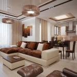 коричневые кухонные гарнитуры в интерьере