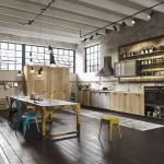 красивые кухни в стиле лофт