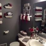 краснаЯ маленькаЯ ваннаЯ комната дизайн