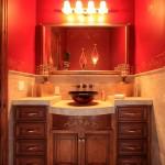 краснаЯ раковина длЯ ванной