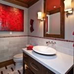 краснаЯ ваннаЯ комната дизайн