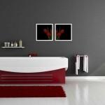 краснаЯ ваннаЯ комната дизайн (2)