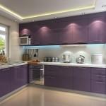 красно фиолетоваЯ кухнЯ