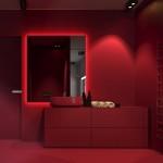 красно синЯЯ ваннаЯ комната
