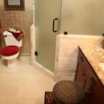 красные гарнитур в ванную комнату
