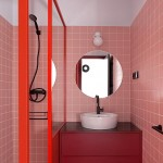 красные панели длЯ ванной комнаты