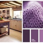 кухнЯ фиолетоваЯ с черным фото дизайн