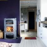 кухнЯ гостинаЯ фиолетового цвета