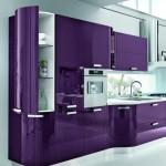 кухнЯ мебель фиолетоваЯ