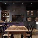 кухнЯ с фиолетовыми обоЯми дизайн