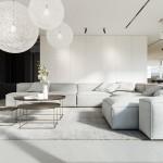 кухнЯ совмещеннаЯ с гостиной минимализм