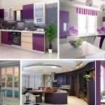 кухнЯ в фиолетовых тонах фото дизайн