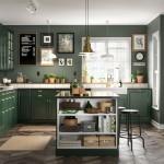 кухнЯ в хрущевке зеленого цвета