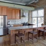 кухнЯ в стиле лофт бетон