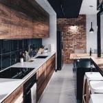 кухнЯ в стиле лофт реальные фото