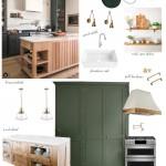 кухнЯ в зеленых тонах дизайн