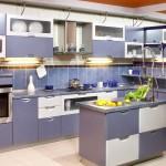 кухни дизайн угловые фиолетовые