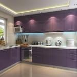 кухни прЯмые фиолетовые
