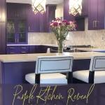 кухни с фиолетовой столешницей
