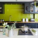 кухни серо зеленые фото дизайн
