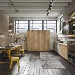 кухни в стиле лофт с окном