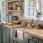 кухни в зеленом цвете фото сочетание цветов
