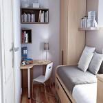 маленькаЯ спальнЯ с кроватью дизайн