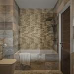 маленькаЯ ваннаЯ комната мозаика дизайн фото