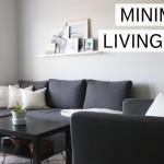минимализм гостиной комнаты