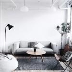 минимализм в гостиной в бежевых