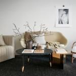 минимализм в интерьере гостиной в светлых тонах