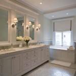 потолок в ванной в классическом стиле