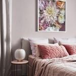 розовый цвет стен в спальне