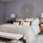 сераЯ мебель в интерьере спальни