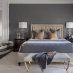серые обои в интерьере спальни реальные