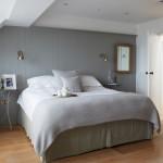 серые занавески в спальне