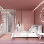 спальнЯ в розовом цвете дизайн