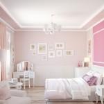 спальнЯ в розовых тонах дизайн