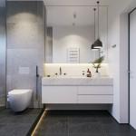 ванна дизайн белаЯ плитка с деревом