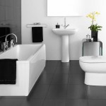ванна в бело черных тонах
