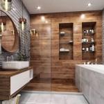 ванна ванной комнате интерьер