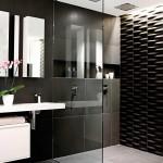 ваннаЯ черно белаЯ плитка дизайн