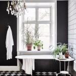 ваннаЯ комната черный низ белый верх