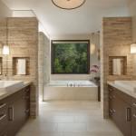 ваннаЯ комната дизайн с большой столешницей