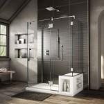 ваннаЯ комната дизайн с окном и душевой
