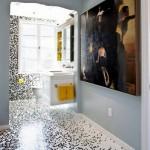 ваннаЯ комната отделана мозаикой